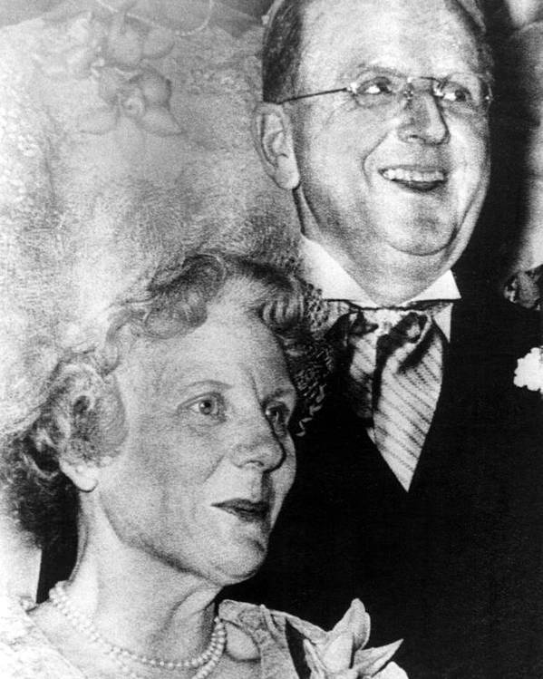1960s Movies Poster featuring the photograph Dr. Norman Vincent Peale, And Wife by Everett