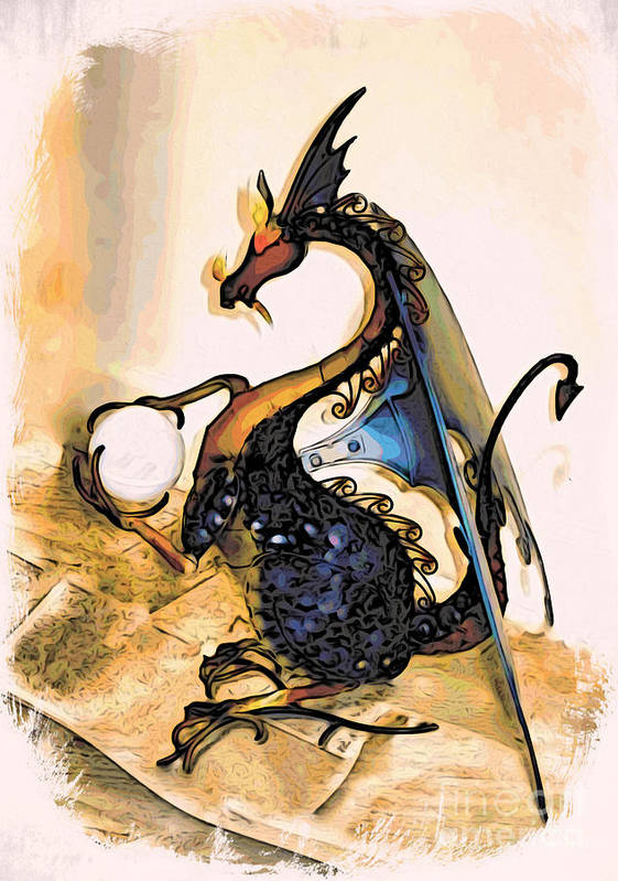 Dragon Poster featuring the photograph Dragon At Work by Phyllis Kaltenbach