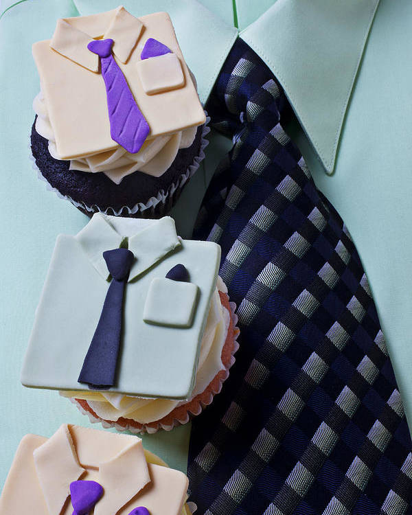 Cupcakes Poster featuring the photograph Dress Shirt Cupcakes by Garry Gay