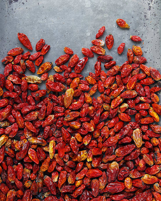 Asian Poster featuring the photograph Dried Chili Peppers by Carlos Caetano