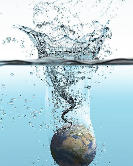 Earth Poster featuring the photograph Drowning Earth, Conceptual Image by Karsten Schneider