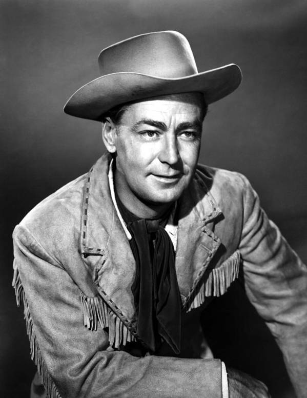 1950s Portraits Poster featuring the photograph Drum Beat, Alan Ladd, 1954 by Everett
