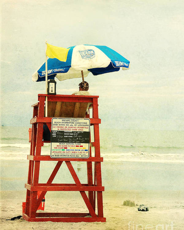 Beach Poster featuring the photograph Duty Time by Susanne Van Hulst