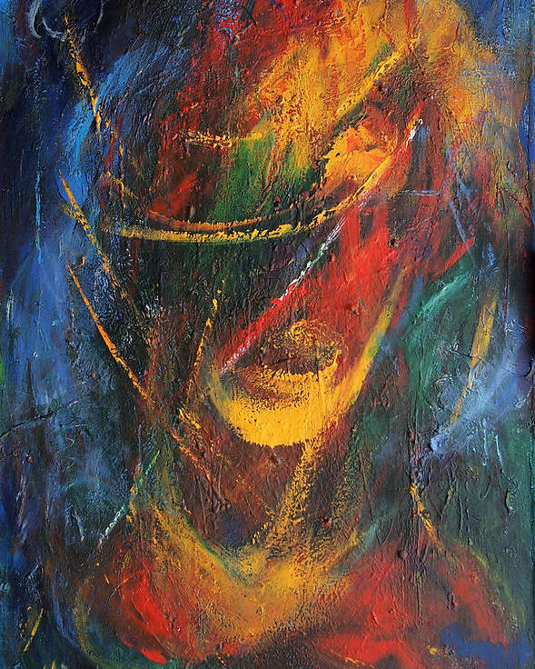 Venezuela Poster featuring the painting Dynamism by Marina R Burch