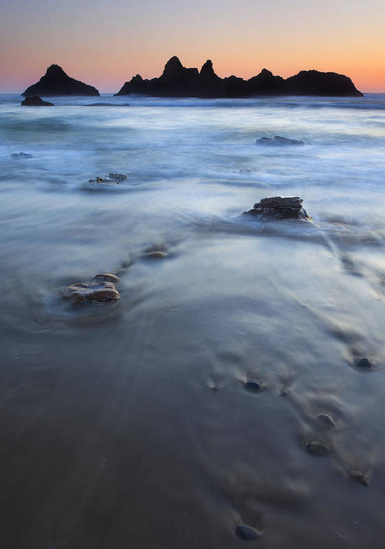 Seal Rock Poster featuring the photograph Ebb Stones by Mike Dawson