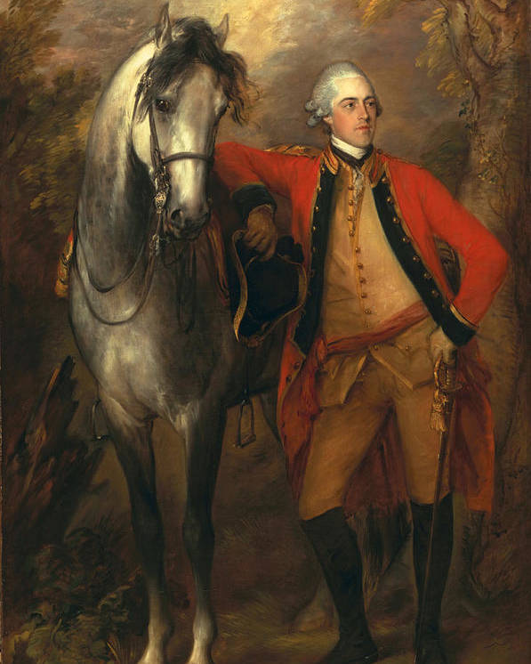 Male Poster featuring the painting Edward Viscout Ligonier by Thomas Gainsborough