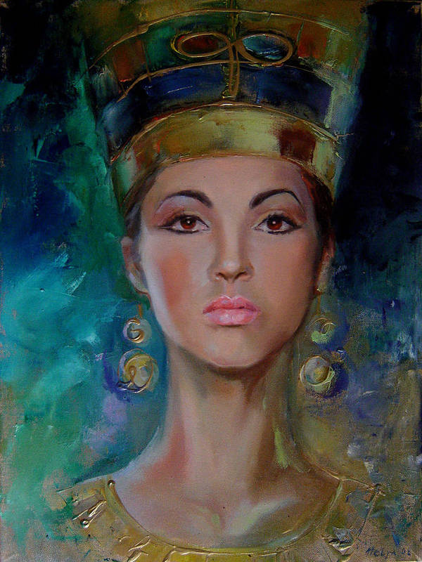 Art Poster featuring the painting Egyptian Princess by Nelya Shenklyarska