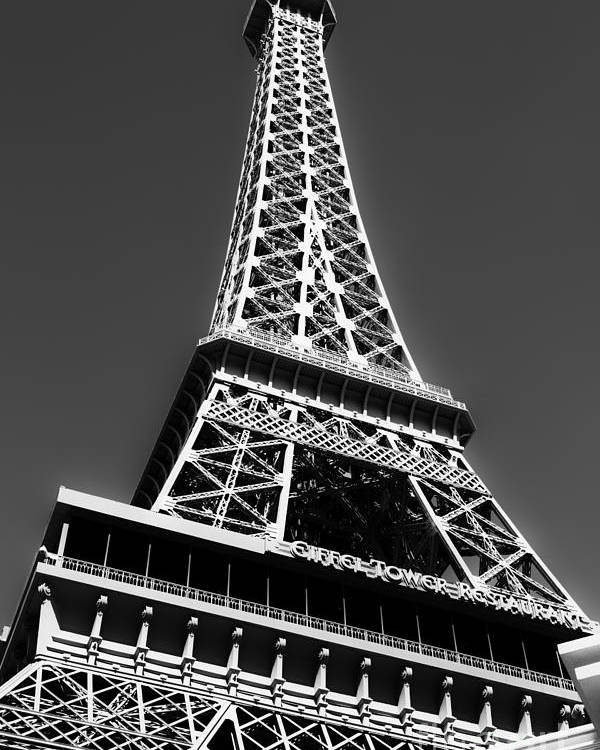 Eiffel Tower Poster featuring the photograph Eiffel Tower Vegas Style by Leslie Leda