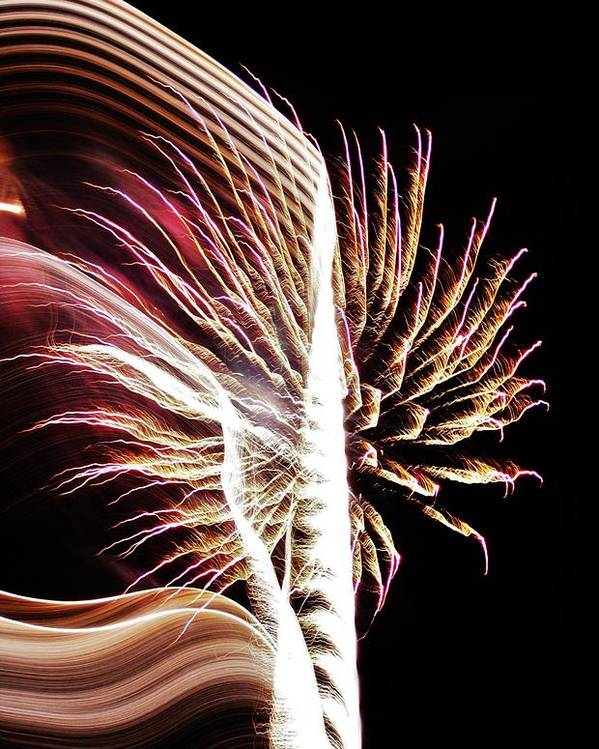 Fireworks Poster featuring the photograph Electric by Paulette Thomas