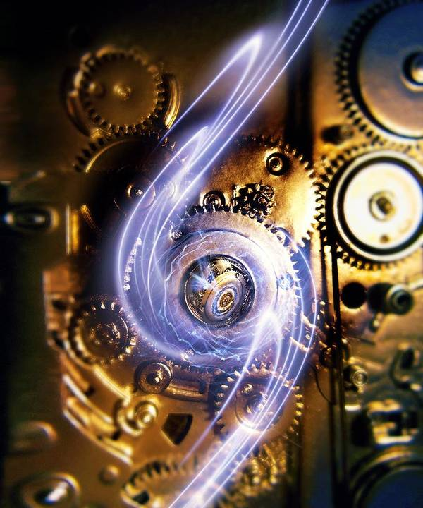 Cog Poster featuring the photograph Electromechanics, Conceptual Image by Richard Kail