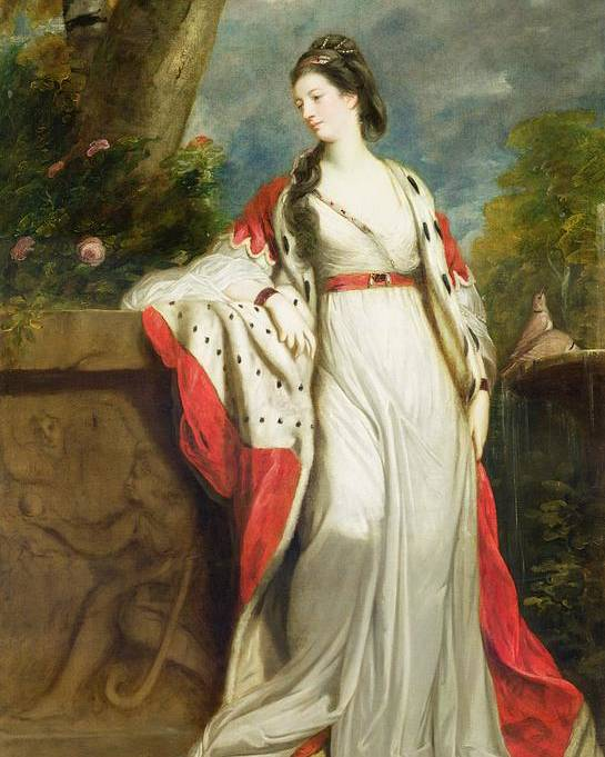 Elizabeth Poster featuring the painting Elizabeth Gunning - Duchess Of Hamilton And Duchess Of Argyll by Sir Joshua Reynolds