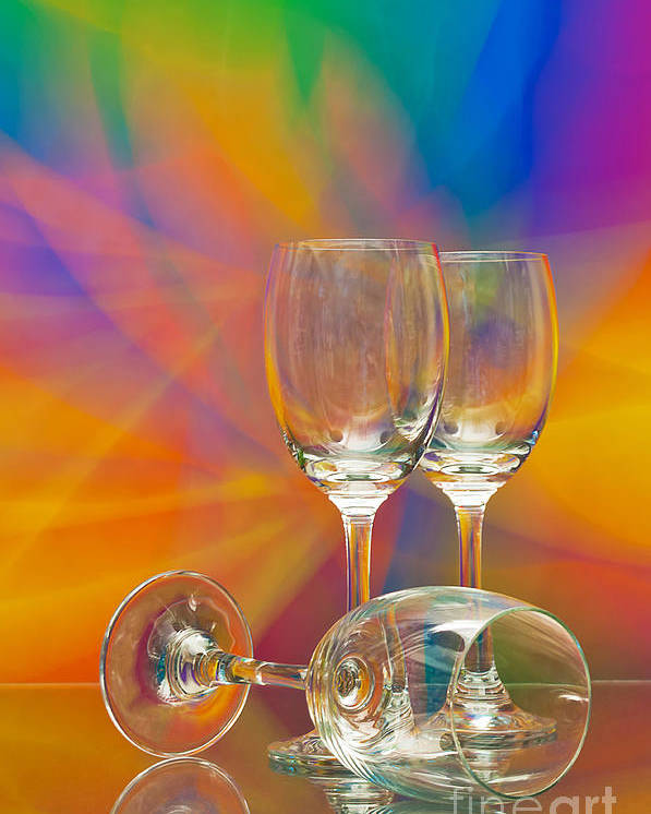 Alcohol Poster featuring the photograph Empty Wine Glass by Anuwat Ratsamerat
