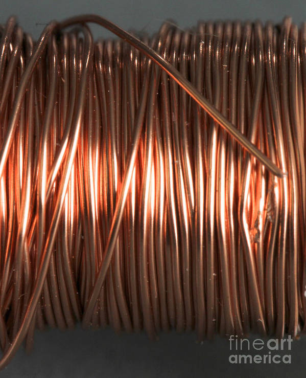 Coil Poster featuring the photograph Enamel Coated Copper Wire by Photo Researchers