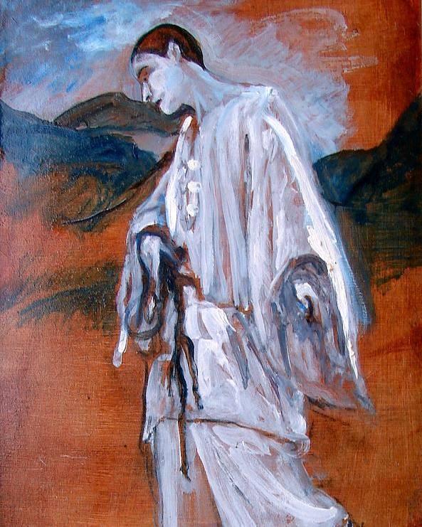 Landscape Poster featuring the painting Enfants Du Paradis by Scott Cumming