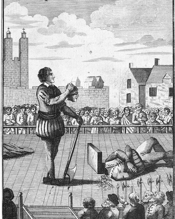 1554 Poster featuring the photograph England: Beheading, 1554 by Granger