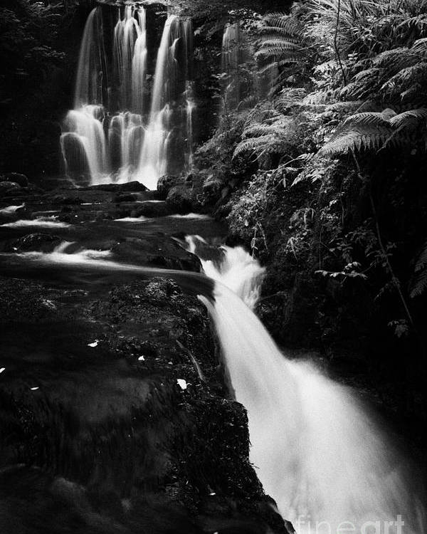 Ess-na-crub Poster featuring the photograph Ess-na-crub Waterfall On The Inver River In Glenariff Forest Park County Antrim Northern Ireland by Joe Fox