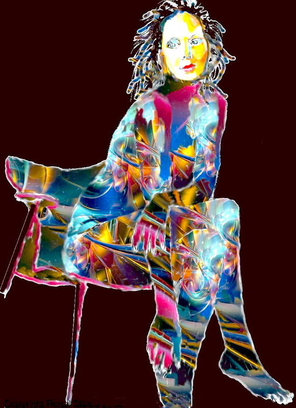 Pen And Ink Poster featuring the digital art Ethereal Beauty by Rom Galicia