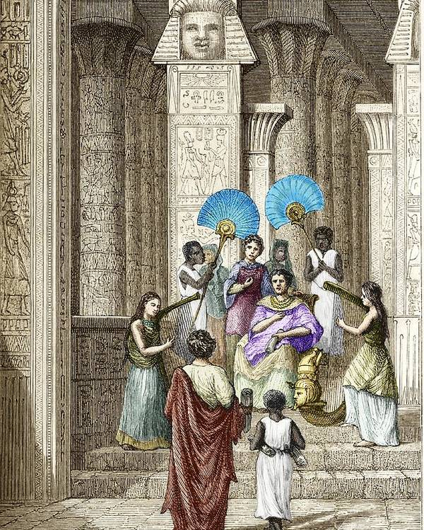Ptolemy Poster featuring the photograph Euclid And Ptolemy Soter, King Of Egypt by Sheila Terry