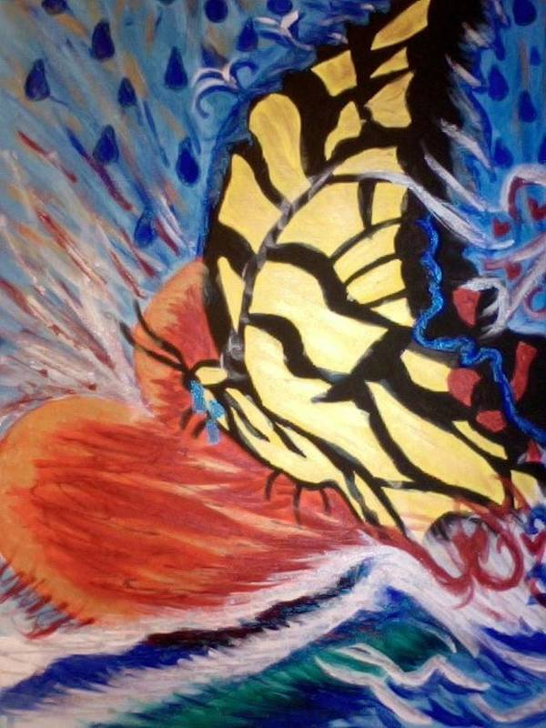 Butterfly Poster featuring the painting Every Tear I Shed by Christie Lee