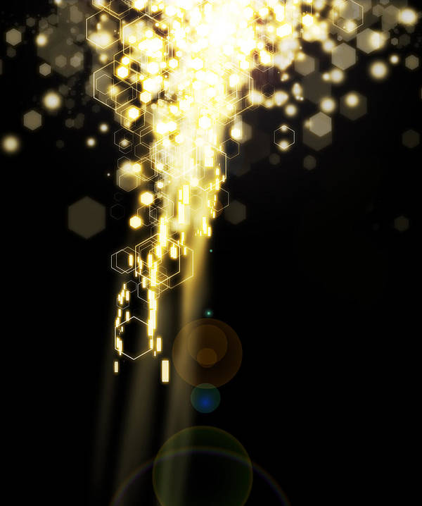Abstract Poster featuring the photograph Explosion Of Lights by Setsiri Silapasuwanchai