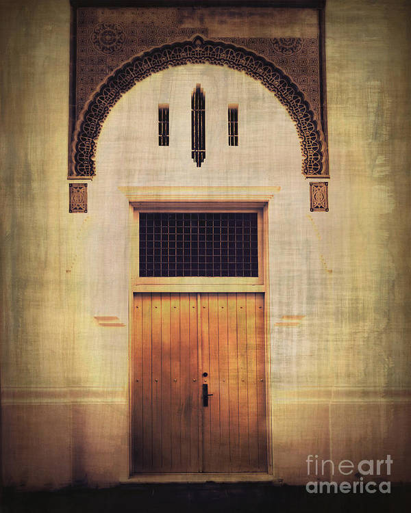 Door Poster featuring the photograph Faded Doorway by Perry Webster