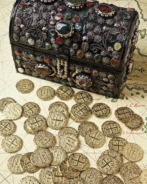 Treasure Poster featuring the photograph Fancy Treasure Chest by Garry Gay