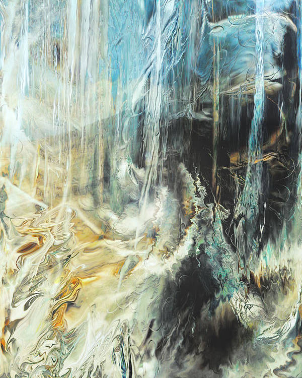 Digital Art Poster featuring the digital art Fantasy Storm by Linda Sannuti