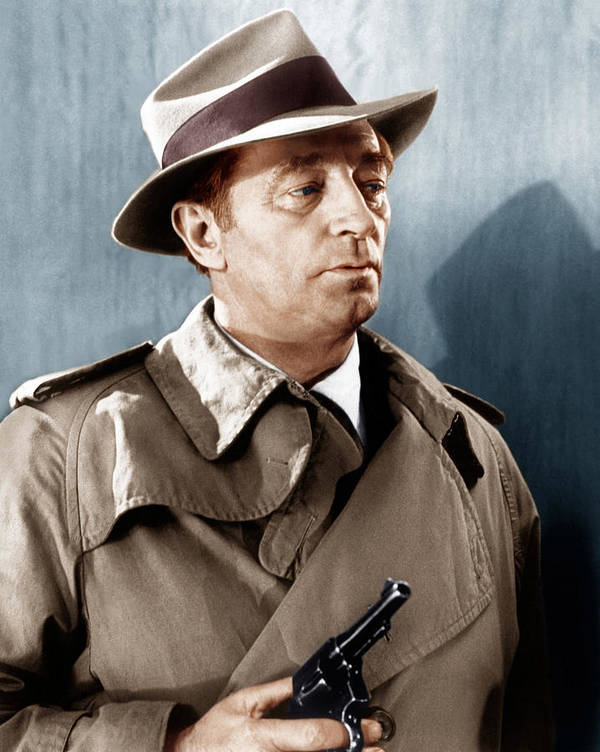 1970s Portraits Poster featuring the photograph Farewell My Lovely, Robert Mitchum, 1966 by Everett