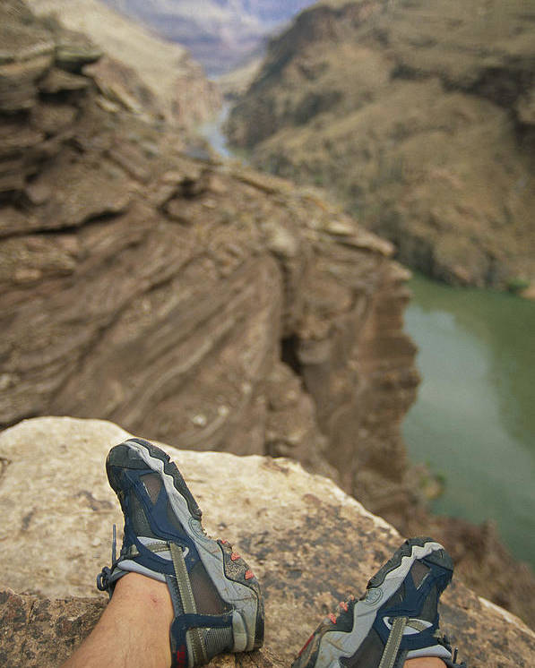 World Heritage Sites Poster featuring the photograph Feet Shod In River Shoes On An Overlook by Bobby Model