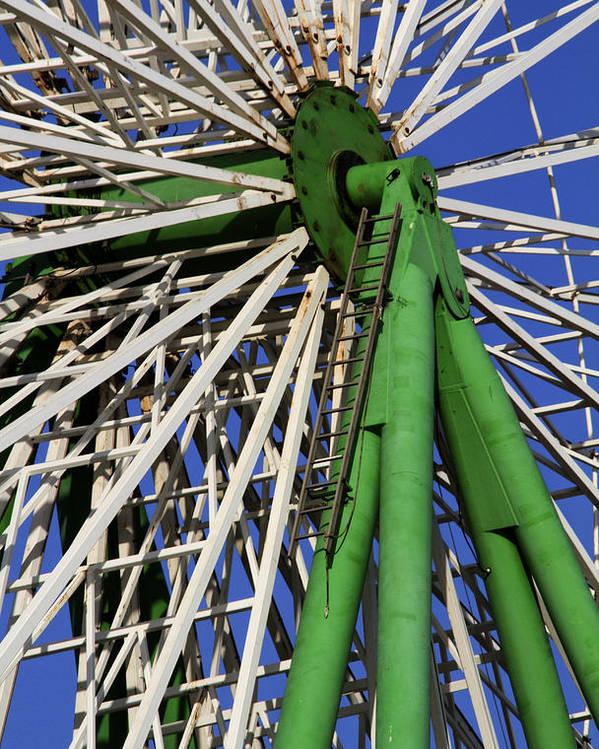 Amusement Poster featuring the photograph Ferris Wheel by Stelios Kleanthous