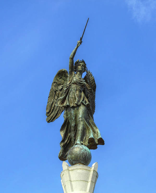 Pennsylvania Monument Poster featuring the photograph Figure Of Winged Victory At Gettysburg by Randy Steele