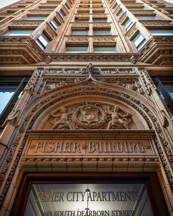 Chicago Poster featuring the photograph Fisher Building Chicago by Steve Gadomski