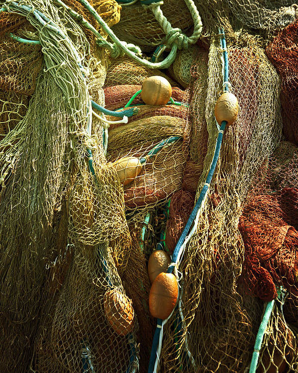 Fishing Net Poster featuring the photograph Fishing Nets by Joana Kruse