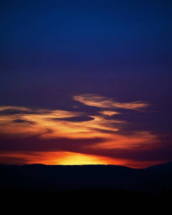 Sunset Poster featuring the photograph Flame Out by Kevin Bone