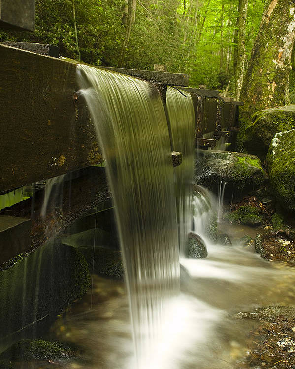 Mill Poster featuring the photograph Flowing Water by Andrew Soundarajan