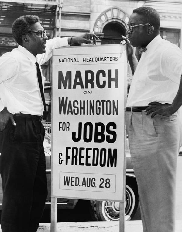 History Poster featuring the photograph For Bayard Rustin 1912-1987, Here by Everett