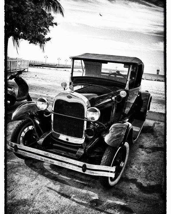 Ford Poster featuring the photograph Ford Model T Film Noir by Bill Cannon