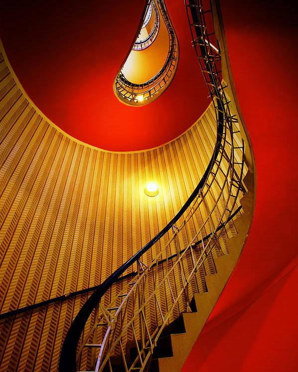 Staircase Poster featuring the photograph Four Flights by John Galbo