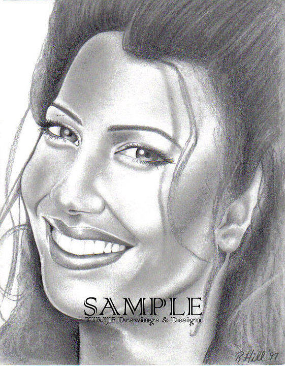 Portraits Poster featuring the drawing Fran Drescher by Rick Hill