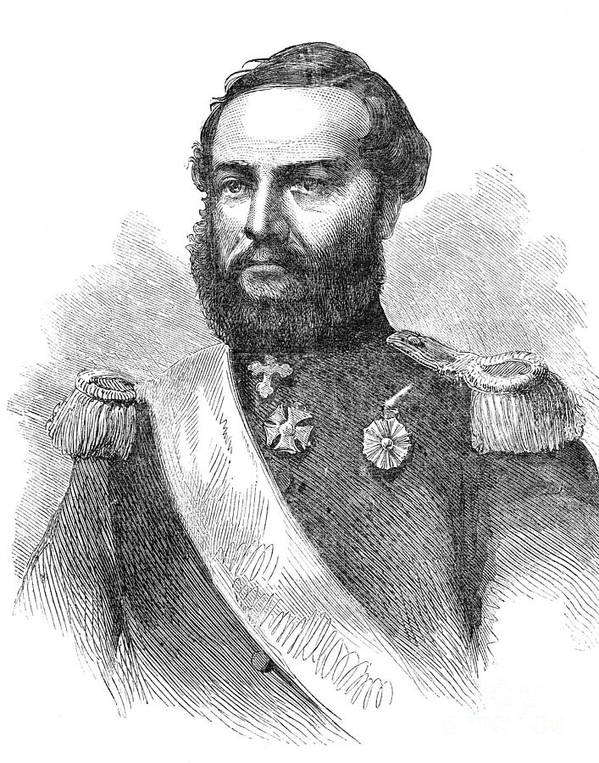 1865 Poster featuring the photograph Francisco Solano Lopez by Granger