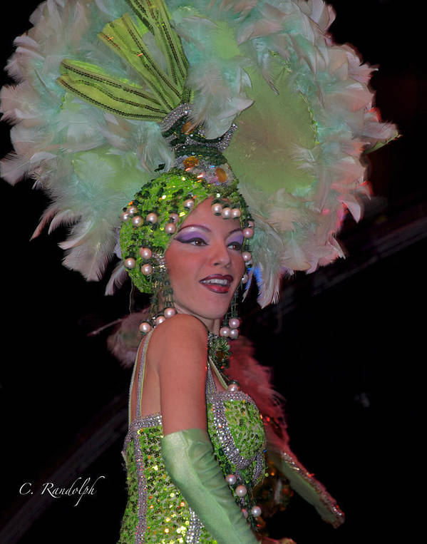 Tropicana Nightclub Poster featuring the photograph French Feathers by Cheri Randolph