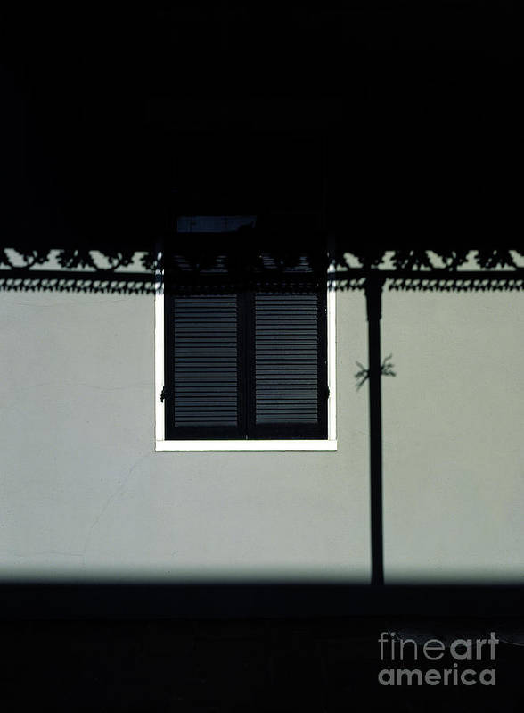 French Quarter Poster featuring the photograph French Quarter Shutter And Shadows by Mike Nellums