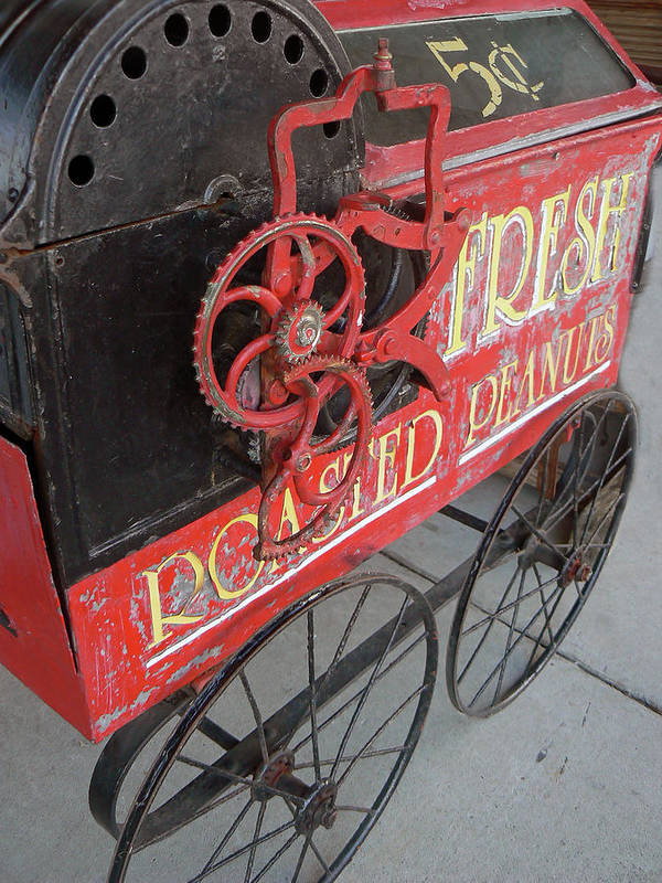 Antique Machinery Poster featuring the photograph Fresh Roasted Peanuts by Pamela Patch