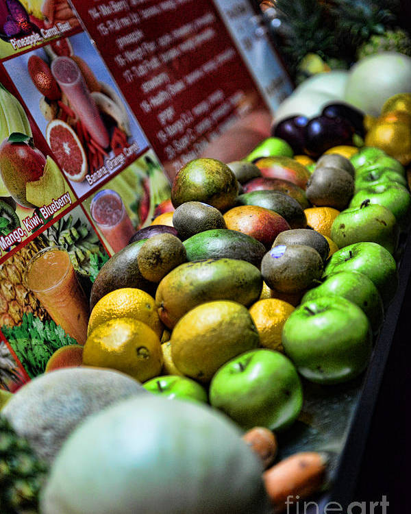 Fruit Poster featuring the photograph Fruit Stand by Paul Ward