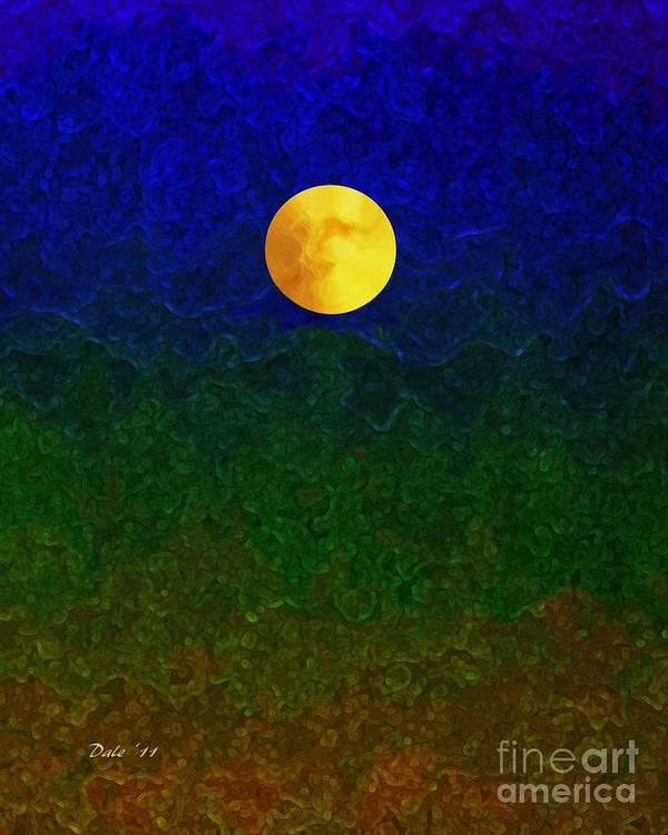 Dale Ford Poster featuring the digital art Full Moon by Dale  Ford