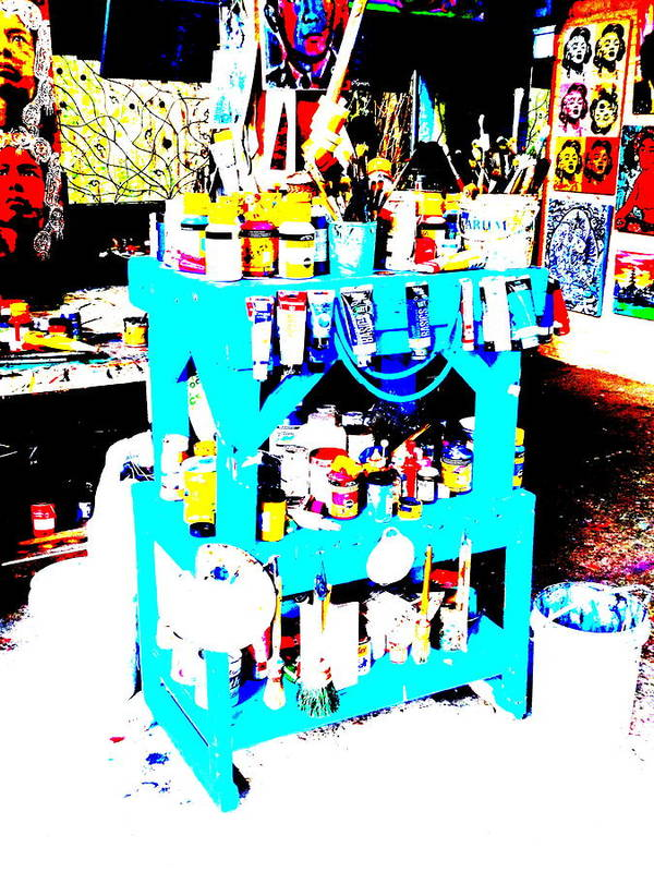 Bali Poster featuring the photograph Funky Balinese Artist Toolkit by Funkpix Photo Hunter
