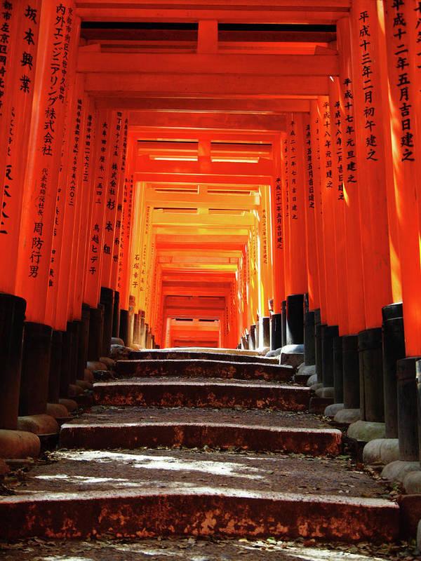 Japan Poster featuring the photograph Fushimi Inari Shrine Pic.1 by Oleg Volkov