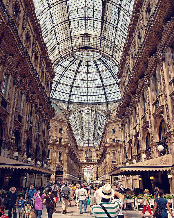 Italy Poster featuring the photograph Galleria Vittorio Emanuele by Benjamin Matthijs
