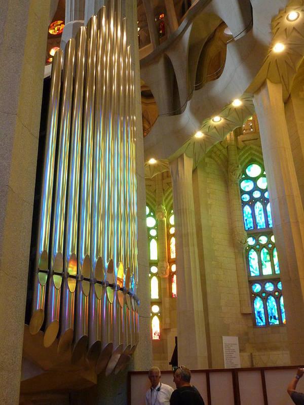Sagrada Familia Poster featuring the photograph Gaudi's Vision by Christine Burdine