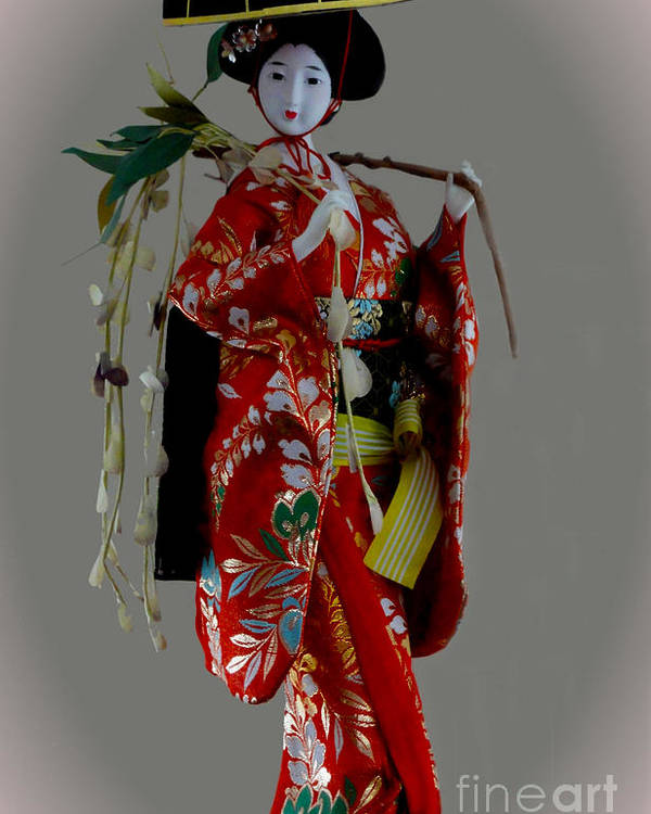 Al Bourassa Poster featuring the photograph Geisha Elegance by Al Bourassa